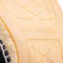 Authentic Second Hand Chanel Velvet 'CC' Cap Toe Espadrilles (PSS-A82-00004) - Thumbnail 6