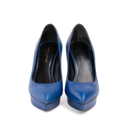 Authentic Second Hand Saint Laurent Janis Platform Pumps (PSS-A82-00005)