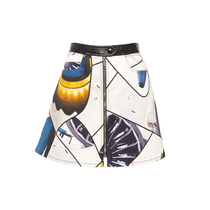 Authentic Second Hand Louis Vuitton Spaceship Print Skirt (PSS-990-00624)
