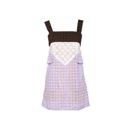 Authentic Second Hand Louis Vuitton Broderie Angalise Shift Dress (PSS-990-00626)