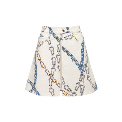 Authentic Second Hand Louis Vuitton Chainlink Print Skirt (PSS-990-00639)