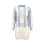 Authentic Second Hand Sacai Luck Sheer Pinstriped Romper (PSS-A55-00012) - Thumbnail 0