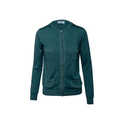 Authentic Second Hand Prada Wool Silk Blend Cardigan (PSS-990-00691)