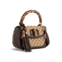 Authentic Second Hand Gucci Medium Bamboo Handle Bag (PSS-247-00217) - Thumbnail 1