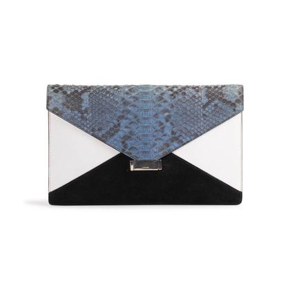 Authentic Second Hand Céline Diamond Snakeskin Clutch (PSS-859-00099)