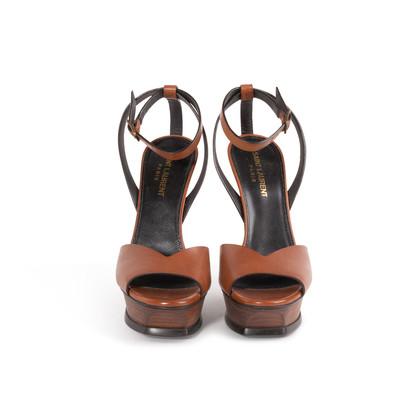 Authentic Second Hand Saint Laurent Tribute Lips Sandals (PSS-048-00191)