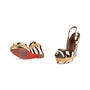 Authentic Second Hand Christian Louboutin Almeria 120 Wedge Sandals (PSS-048-00193) - Thumbnail 4