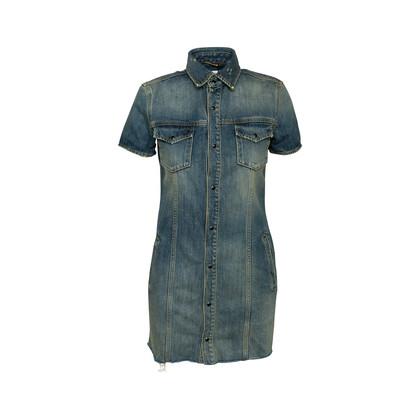 Authentic Second Hand Saint Laurent Denim Mini Dress (PSS-048-00202)