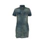 Authentic Second Hand Saint Laurent Denim Mini Dress (PSS-048-00202) - Thumbnail 0