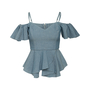 Authentic Second Hand Sea Ruffle Off Shoulder Top (PSS-048-00224) - Thumbnail 0