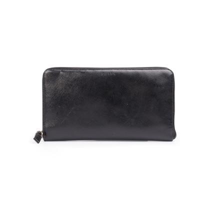 Authentic Second Hand Prada Saffiano Zip Around Wallet (PSS-332-00052)