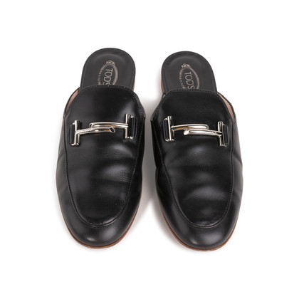 Authentic Second Hand Tod's Double T Mules (PSS-332-00050)