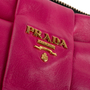 Authentic Second Hand Prada Bow Zip Nappa Pouch (PSS-114-00050) - Thumbnail 6