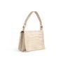 Authentic Second Hand Yves Saint Laurent Croc Embossed Flap Shoulder Bag (PSS-089-00106) - Thumbnail 1