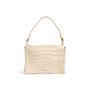Authentic Second Hand Yves Saint Laurent Croc Embossed Flap Shoulder Bag (PSS-089-00106) - Thumbnail 0