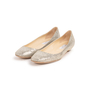 Authentic Second Hand Jimmy Choo Glitter Finlay Flats (PSS-393-00134) - Thumbnail 3