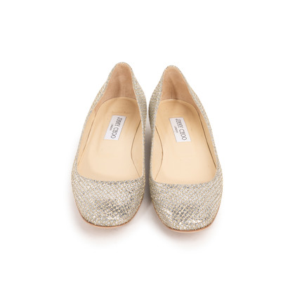 Authentic Second Hand Jimmy Choo Glitter Finlay Flats (PSS-393-00134)