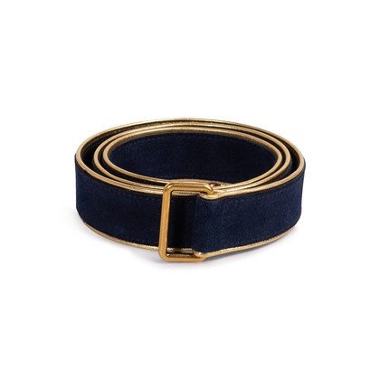 Authentic Second Hand Yves Saint Laurent Suede Waist Belt (PSS-132-00182)