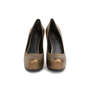 Authentic Second Hand Yves Saint Laurent Metallic Leather Tribtoo Pumps (PSS-064-00004) - Thumbnail 0