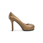 Authentic Second Hand Yves Saint Laurent Metallic Leather Tribtoo Pumps (PSS-064-00004) - Thumbnail 1