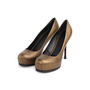 Authentic Second Hand Yves Saint Laurent Metallic Leather Tribtoo Pumps (PSS-064-00004) - Thumbnail 3