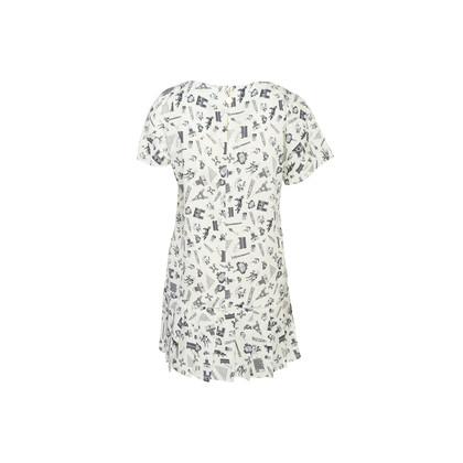 Authentic Second Hand Maison Kitsuné Printed Pleated Hem Dress (PSS-033-00016)