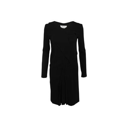 Authentic Second Hand Maison Martin Margiela Long-Sleeved Overlap Drape Dress (PSS-033-00018)