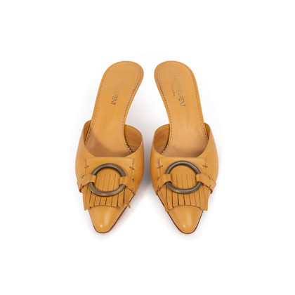 Authentic Second Hand Yves Saint Laurent Leather Siena Mule (PSS-A26-00095)