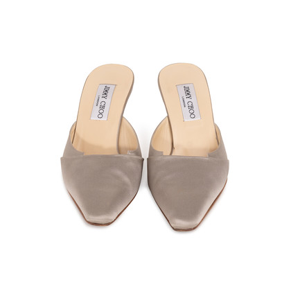 Authentic Second Hand Jimmy Choo Satin Slip On Pumps (PSS-A26-00093)