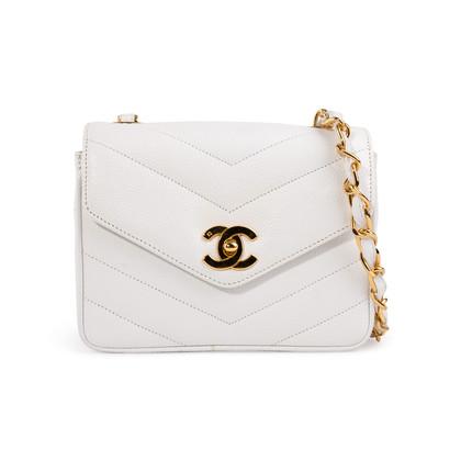 Authentic Second Hand Chanel Chevron Quilt Envelope Flap Bag (TFC-852-00028)
