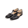 Authentic Second Hand Salvatore Ferragamo Crocodile Embossed T-Strap Mary Janes (PSS-637-00143) - Thumbnail 3