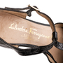 Authentic Second Hand Salvatore Ferragamo Crocodile Embossed T-Strap Mary Janes (PSS-637-00143) - Thumbnail 6