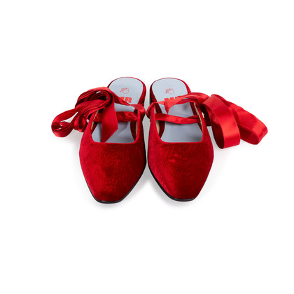Authentic Second Hand MR by Man Repeller The Morning After Velvet Flats (PSS-637-00144)