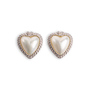 Authentic Second Hand Judith Ripka Heart-shaped Pearl Stud Earrings (PSS-634-00010) - Thumbnail 0