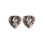 Authentic Second Hand Judith Ripka Heart-shaped Pearl Stud Earrings (PSS-634-00010) - Thumbnail 1