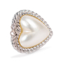 Authentic Second Hand Judith Ripka Heart-shaped Pearl Stud Earrings (PSS-634-00010) - Thumbnail 6
