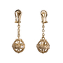 Authentic Second Hand Judith Ripka Gold Ball Dangle Earrings (PSS-634-00016) - Thumbnail 1
