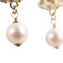Authentic Second Hand Chanel Pearl Dangle Logo Earrings (PSS-A09-00040) - Thumbnail 5