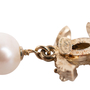 Authentic Second Hand Chanel Pearl Dangle Logo Earrings (PSS-A09-00040) - Thumbnail 3