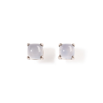 Authentic Second Hand Tiffany & Co Sugar Stacks Blue Chalcedony Earrings (PSS-A09-00042)
