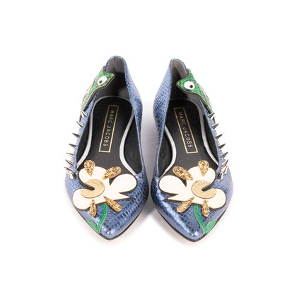 Authentic Second Hand Marc Jacobs Frog Pointed Flats (PSS-A09-00061)