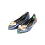 Authentic Second Hand Marc Jacobs Frog Pointed Flats (PSS-A09-00061) - Thumbnail 3