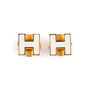 Authentic Second Hand Hermès Cage d'H Earrings (PSS-A09-00059) - Thumbnail 0