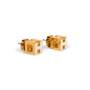 Authentic Second Hand Hermès Cage d'H Earrings (PSS-A09-00059) - Thumbnail 1