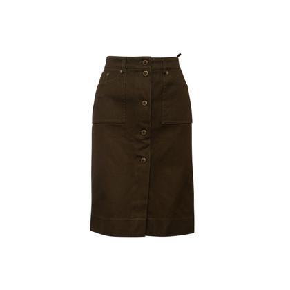 Authentic Second Hand Louis Vuitton Cotton Denim Skirt  (PSS-067-00331)