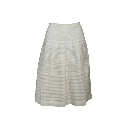 Authentic Second Hand Prada Pleated Flare Skirt (PSS-067-00336)