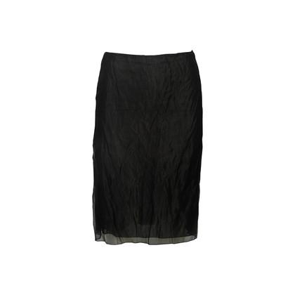 Authentic Second Hand Prada Shimmery Black Skirt (PSS-067-00337)