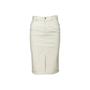 Authentic Second Hand Gucci Front Slit Denim Skirt (PSS-067-00338) - Thumbnail 0
