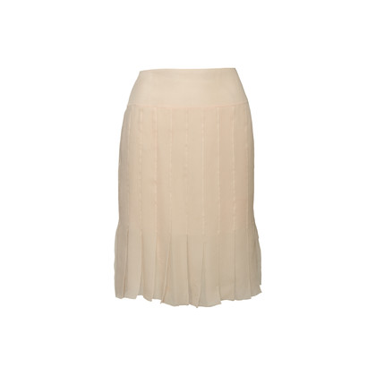 Authentic Second Hand Chanel Pleated Silk Skirt (PSS-067-00344)