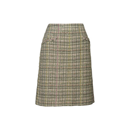 Authentic Second Hand Chanel Embellished Tweed Skirt (PSS-067-00343)